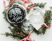 Custom Christmas Ornament Calligraphy