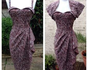 Wing Bust Sarong Dress in Batik fabric. Option to add matching Bolero