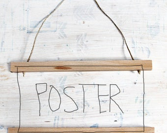 Poster Strip | Picture frame | Wood | magnetic