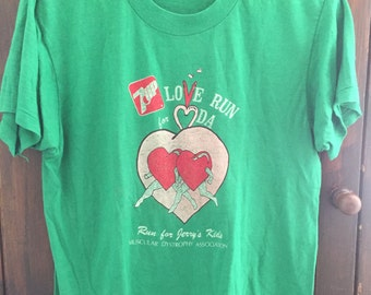 1980's 7Up Love Run for MDA Association Tee