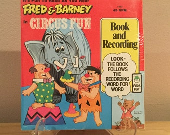 The Flintstones Fred And Barney In Circus Fun Book And Record