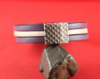 5/7 MADE in EUROPE zamak 15mm flat cord clasp, flat leather cord clasp, 15mm flat magnetic clasp (TM15X3SK) Qty1
