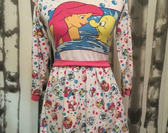 1990's Vintage Disney Little Mirmaid top/dress