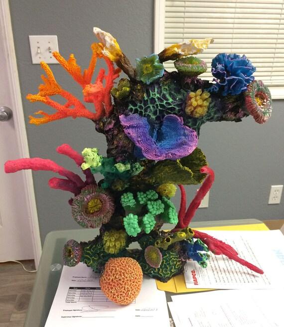 Aquarium decoration ornament coral reef for fresh for Artificial coral reef aquarium decoration uk
