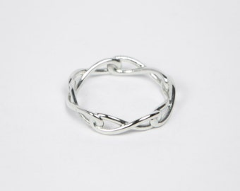 Infinity Ring - Sterling Silver - Endless Infinity Ring, Casual Ring