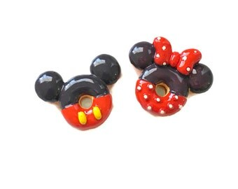 Donut Mickey Magnet Donut Minnie Magnet Mickey Mouse Disney Magnets