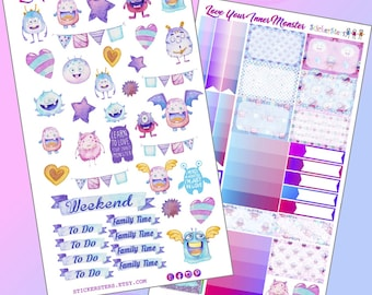 Love Your Inner Monster Planner Layout Stickers