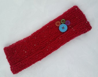 Red Sparkle Head Warmer