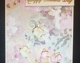 Pretty in Pink Floral mother's day Card 2465