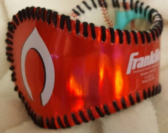 Cincinnati Reds Baseball Cuff Bracelet