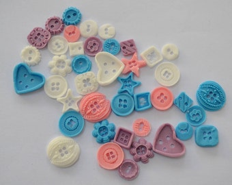 Handmade edible button, buttons Cake Topper, cupcake topper birthday