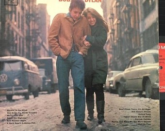 "Bob Dylan ""The Freewheelin' Bob Dylan"" Vintage 1960's LP Vinyl Record - Great Condition - Free Shipping!"