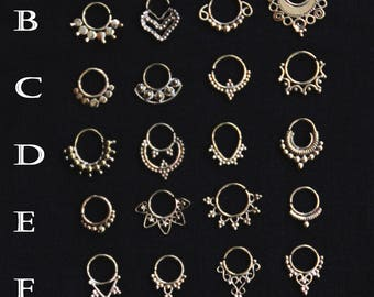 NEW SEPTUM COLLECTION - Bronze - 1.6mm - Gypsy - Boho - Ethnic - Tribal - Fashion - Traveller - Freaky - Pixies - Fairy