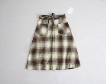 wool plaid skirt | wrap skirt | plaid wool skirt