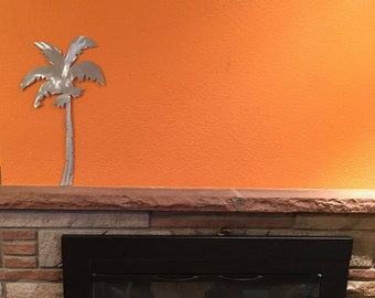 Palm Tree Metal Wall Art palm tree metal wall art. tropical beach artwork. hand cut one