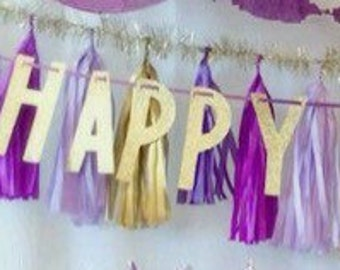 Happy Birthday Tassel Banner