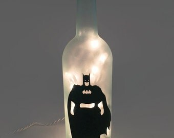 Batman Wine Bottle Lamp / Gifts for Men / Gift Ideas