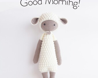 Crochet Toy, Crochet Doll, Toy Animal, Lamb Sheep Toy, Amigurumi, Lalylala Doll, Crochet Lamb