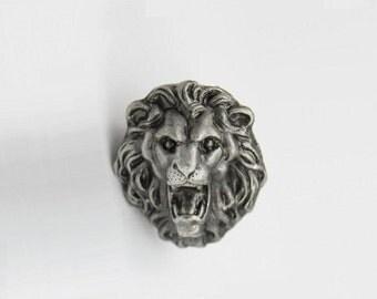 Antique Silver Drawer Knobs Animal Lion Cabinet Knobs Dresser Knobs Drawer  Pull Handles Pulls Handle Unique