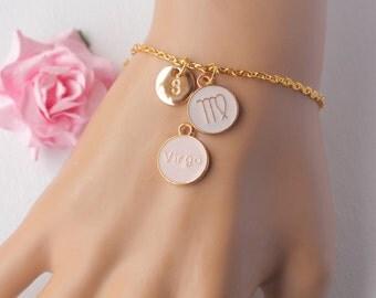 Virgo Zodiac Sign Astrology bracelet, Virgo bracelet, star sign bracelet, star sign bracelet, august and september birthday / GFDISCVIRGOB