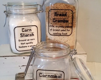 Kitchen Canisters / Cooking Companions / Glass Latching Jar / Hermetic Jars / Kid Kanisters / Glass Canisters / Food Storage / Organization