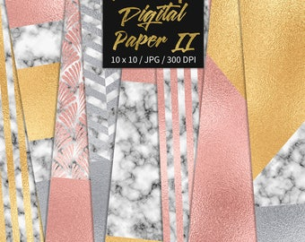 BUY 3 FOR 8 USD, Luxury digital paper, marble digital texture, luxury background, gold foil, rose gold patterns, silver foiled, download
