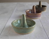 Hand Thrown Little Ring Holder - Stoneware - Ready to Ship