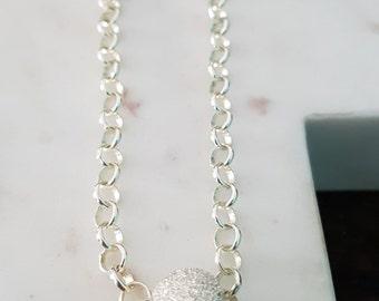 Sterling Silver Sparkle Bead Bracelet