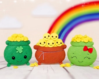 Pot of Gold St Patricks Day Baby Shower Favours Shamrock Irish Gifts For Men Lucky Charm Ornament Coins Party Decorations Irish Wedding Gift