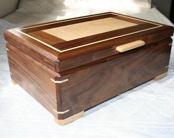 Wood Jewelry Box, Wooden Jewelry Box, Keepsake box, Jewelry Storage box,1SW