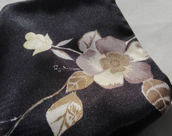 Black handkerchief with flowers