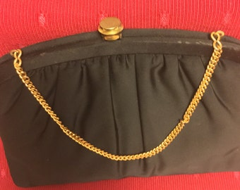 1950's Black Evening Purse