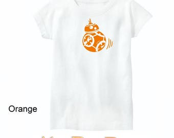 BB-8 Star Wars Tee or Onesie Sparkle or Plain - The Force Awakens Droid