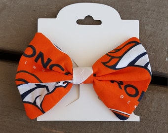 Orange Denver Broncos Hair Bow