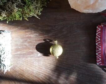 Tibetan brass prayer box locket
