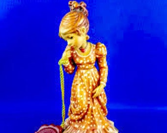 ANRI Wood Carving of a Beautiful Lady