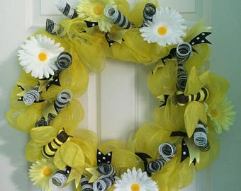 Handmade deco mesh wreaths