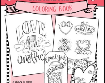 "Soul Inspired Color Book - ""Love One Another"" - digital download"