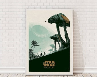 Star Wars Rogue One Poster Art Film Poster Movie Poster