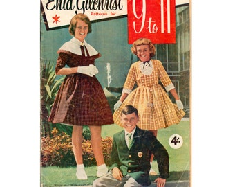 50s Enid Gilchrist Patterns for 9 to 11 Sewing Pattern Book/Magazine, 51 pages