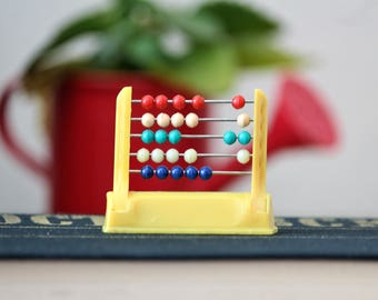 Pencil Sharpener - Vintage Pencil Sharpener in the Shape of Abacus - Abacus Miniature Pencil Sharpener - Tiny Abacus - Decorative Abacus