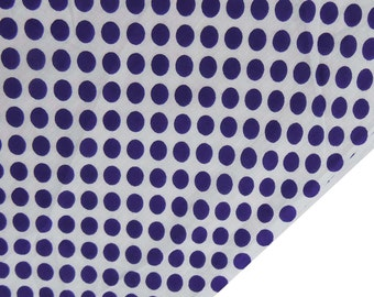 """Dress Fabric, Purple Polka Dot Print, White Cotton Fabric, Sewing Craft, Home Decor, Quilt Material, 43"""" Inch Fabric By The Yard ZBC7146A"""