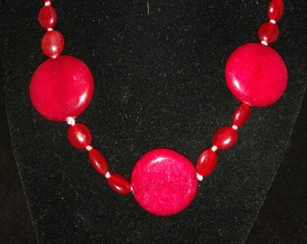CLEARANCE* Red Jade Necklace