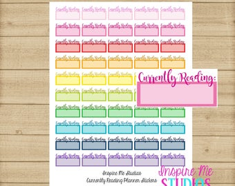 Printable Reading Planner Stickers / Planner Stickers / Life Planner / Happy Planner / Functional Stickers / Currently Reading / Book Club