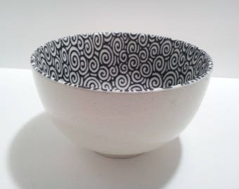 CLEARANCE Sousaku sound collection rice bowl in scrolls pattern discontinued made in Japan