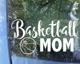 Basketball Mom Decal | Sports Mom | Basketball Mom Car Decal | Basketball Mom Sticker | Sports Mom Decal | Sports Sticker | Hoops Mom