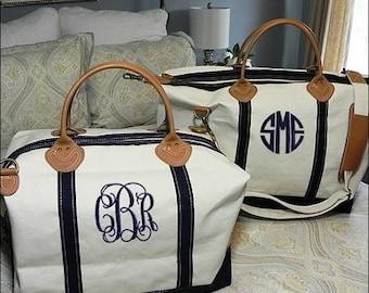 Monogrammed Travel bag, travel bag, overnight bag, weekender, monogrammed luggage, monogrammed tote, airplane bag, Satchel, carry on bag.