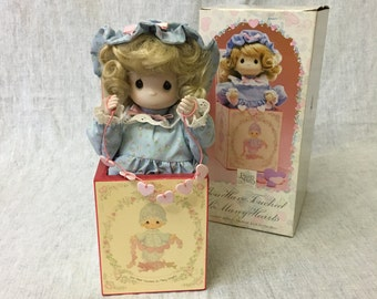 Vintage Enesco Precious Moments Musical Jack in the Box, You Have Touched So Many Hearts