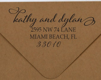 Address Stamp, Modern Calligraphy Address Stamp, Custom Address Stamp
