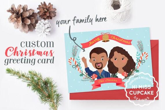 funny christmas card family portrait christmas card customized